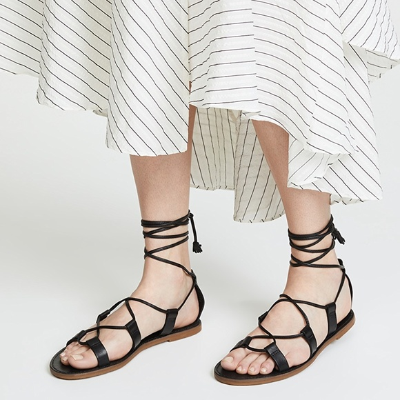 957a9f4429c8 Madewell Outstock Lace-Up Sandals True Black 6